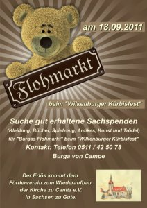 Einladung Flohmarkt 2011 in Wilkenburg